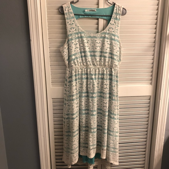 Maurices Dresses & Skirts - Maurices Lace & Teal High-Low Dress (0X)